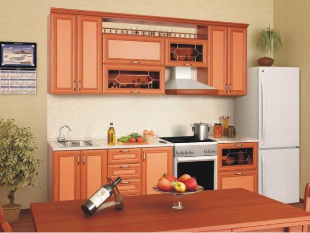 Кухонный гарнитур с МДФ накладками